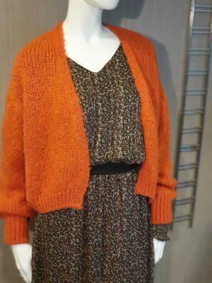 Cardigan modèle bernadette - orange