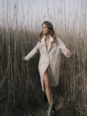 Manteau col revers, doublé